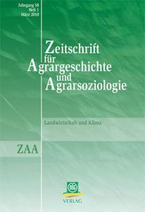 Zeitschrift für Agrargeschichte und Agrarsoziologie 1/2010