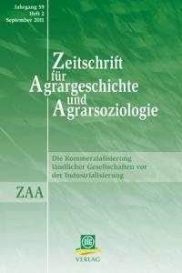 Zeitschrift für Agrargeschichte und Agrarsoziologie 2/2011