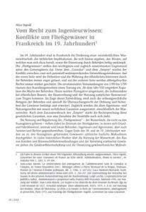 Vom Recht zum Ingenieurwissen: Konflikte um Fließgewässer in Frankreich im 19. Jahrhundert