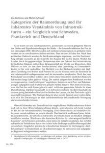 Kategorien der Raumordnung und ihr inhärentes Verständnis von Infrastrukturen