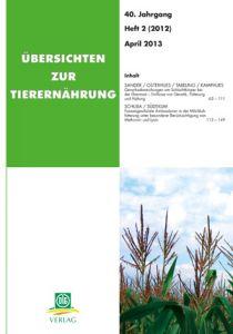 Übersichten zur Tierernährung 2/2012