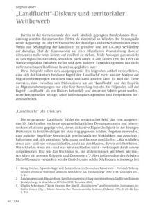 """""""Landflucht""""-Diskurs und territorialer Wettbewerb"""