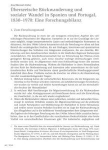 Überseeische Rückwanderung und sozialer Wandel in Spanien und Portugal, 1830–1970: Eine Forschungsbilanz