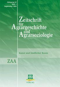 Zeitschrift für Agrargeschichte und Agrarsoziologie 1/2014