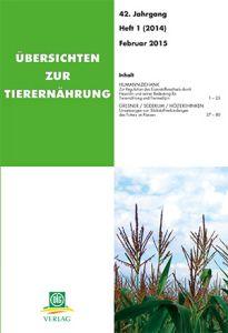 Übersichten zur Tierernährung 1/2014
