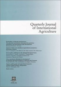 Quarterly Journal of International Agriculture 2/2015