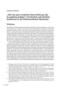 """""""Vohr das arme wendische PawersVolck gut rein Evangelisch predigen"""". Geistlichkeit und ländliche Gesellschaft in der frühneuzeitlichen Oberlausitz"""