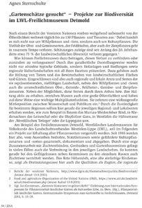 """""""Gartenschätze gesucht"""" − Projekte zur Biodiversität im LWL-Freilichtmuseum Detmold"""