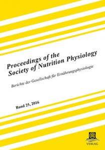 Proceedings of the Society of Nutrition Physiology Band 25