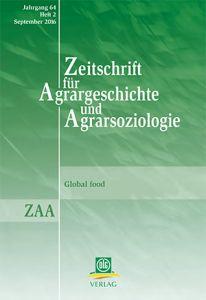 Zeitschrift für Agrargeschichte und Agrarsoziologie 2/2016