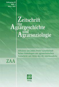 Zeitschrift für Agrargeschichte und Agrarsoziologie 1/2017