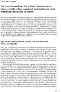 Der feine Unterschied. Die schiefe kommunikative Ebene zwischen Bauernverband und staatlicher Landwirtschaftsverwaltung in Bayern