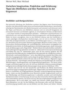 Zwischen Imagination, Projektion und Erfahrung: Topoi des Dörflichen und ihre Funktionen in der Gegenwart