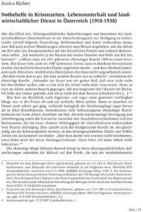 Notbehelfe in Krisenzeiten. Lebensunterhalt und landwirtschaftlicher Dienst in Österreich (1918-1938)